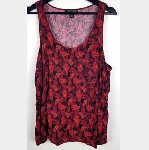 Forever 21 Plus 2X Floral Tank Top Pocket Flowy